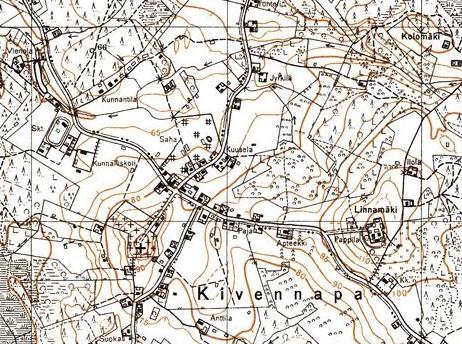 Кивеннапа – финская карта 30-х годов